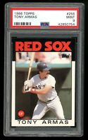 1986 Topps #255 Tony Armas Boston Red Sox PSA 9 MINT SET BREAK!