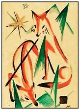 Franz Marc's Sketch of 2 Foxes Counted Cross Stitch Chart Pattern