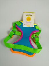 Dog Harness For Small Size Dogs Neoprene Neon Green Blue New Has Minor Defects