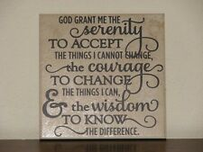 Serenity Prayer, Decorative tile plaque sign quote vinyl saying