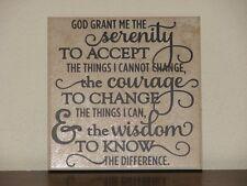 Serenity Prayer, Decorative tile plaque sign quote vinyl saying