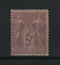 "FRANCE STAMP TIMBRE N° 95 "" SAGE 5F VIOLET SUR LILAS 1877 "" NEUF x TB  R554"