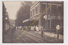 Rare Original Photo MADAGASCAR Gare AMBATOVAKY avec Train et voyageurs