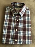 Mens Abercrombie & Fitch Plum & White Checkered Shirt Size X-Small Muscle Fit