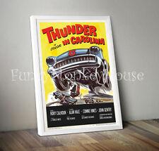 Thunder en caroline vintage film poster voiture racing motorsport 50s 60s-A4