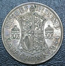 1944 GREAT BRITAIN - HALF CROWN - .500 SILVER -George VI - WWII era -Some Toning