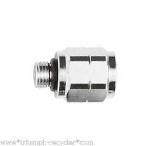 """Pipe Adaptor 3/8"""" Male to 7/16"""" Female Stainless Steel Scuba Diving RA-4"""