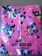 NEW  COZY!  3T Joe Boxer Blanket Sleeper Footie Footed Pink Pajamas w/ PANDA