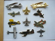 AVIATION AIR FORCE JET PLANE AEROPLANE AIRCRAFT RAF WW2 PIN BADGE JOB LOT BUNDLE