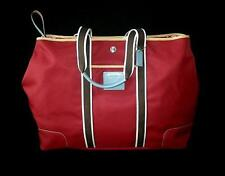 NWT COACH HAMPTONS WEEKEND RED NYLON HUGE EXPANDABLE TRAVEL TOTE BAG SATCHEL WOW