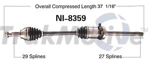 Front Passenger Right CV Axle Shaft SurTrack NI-8359 for Nissan Juke 2011-14 AWD