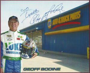 "Geoff Bodine, NASCAR Driver, Signed 10"" x 8"" Color Photo, COA, UACC RD 036"