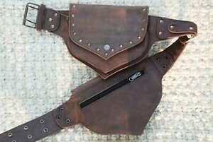 Brown Leather Belt Bag Festival Waist Pack Fanny Pack Women Hip Bag Bum Bag