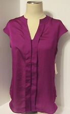 Women's Coldwater Creek Blouse Sleeveless Placket Detail Shell Size M 10-12 NWT