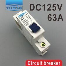1P 63A DC 125V Circuit breaker MCB C curve
