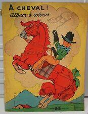 Grand album à colorier illustrateur: Gaston Maréchaux, n° 2369, A cheval