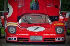 Ferrari 512S Sports Motor Car Front View Photograph Picture Print