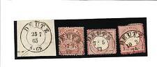 Preußen / DEUTZ 4 interessante Stücke, dabei K2 auf Blanko-Briefstück + je K2