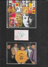 ERIC BURDON - HAND SIGNED CARD WITH  PHOTO MONTAGE - MOUNTED WITH C.O.A.