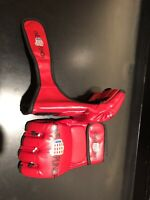 MMA Onepunch Sparing Grappling Boxing Fight Punch Ultimate Mitts Leather Gloves