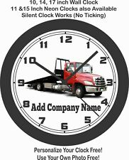 TOW TRUCK FLATBED WALL CLOCK-ADD COMPANY NAME FREE!-Choose 1 of 2
