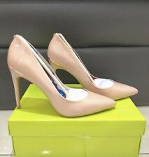 71558b32a TED BAKER Leather Shoes Size 8 EU 41 Nude Patent Court Heels Brand New RRP £