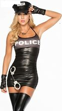Ladies Police Fancy Dress Halloween Costume Sexy Cop Outfit Woman 8930