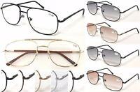 R130 Double Bridge Pilot Metal Reading Glasses Spring Hinge Flexible Arm+50~+400