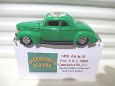 Racing Champions 2006 MOONSHINERS REUNION 1940 FORD Hood Opening Coupe NewBoxed