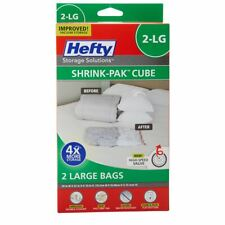"Vacuum Seal Bags Storage Hefty Shrink Pak Cube 30x22x10"" 2 Large Packs Airtight"