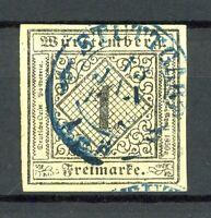 Württemberg MiNr. 1 b gestempelt geprüft Thoma (I702