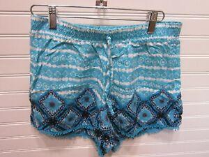 Justice Girls Multi Color 100% Rayon Fringe Shorts Size 16