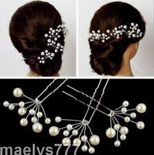 épingles à cheveux perle coiffure.accessoire mariée  Mariage soirées.LOT 6 pcs