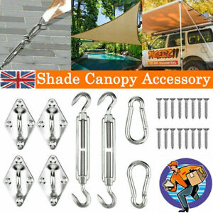 Sun Sail Shade Canopy Stainless Steel Fixing Fittings Hardware Accessory Kit UK*
