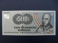 NICE DENMARK 500 KRONER BANKNOTE CRISP GVF