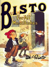 BISTO FOR ALL MEAT DISHES DINNER SUNDAY LUNCH KITCHEN TIN SIGN METAL PLAQUE 76