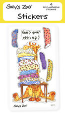 "Suzy's Zoo Stickers 4-pack, ""Keep your chin up!"" 10132"