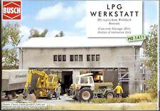 Busch 1411: LPG Werkstatt, Bausatz, 1:87