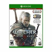 Witcher 3 III Wild Hunt Microsoft Xbox One Game w Map - Excellent Condition
