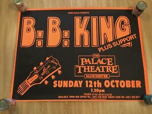 BB King Tour Programme Signed And Used Ticket Stub And Gig Poster (Very Large)