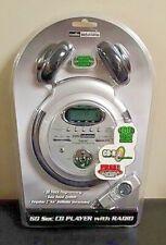 New Sealed Audio Solutions Personal Cd Player 60 Sec Esp Atc-2295 w/Headphones