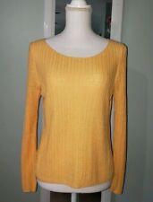 Eileen Fisher Sz M 100% Organic Linen Long Sleeve Knit Sweater Top Shirt