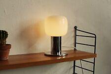 TRUE VINTAGE 60er Sölken TISCHLAMPE 70er Opalglas Chrom Leuchte Lampe