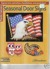 SEASONAL DOOR SIGNS  ~ Plastic Canvas Book ~ NEW RELEASE ~