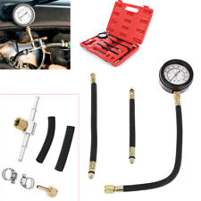 0-100 PSI Fuel Injection Pump Injector Tester Test Pressure Gauge Gasoline Kit