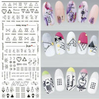 DIY Water Transfer Geometric Stickers Nail Art Manicure Tips Crafts Nails Decals