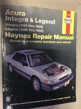 Haynes 12020 Repair Manual. 1986 thru 1990 Acura Integra & Legend