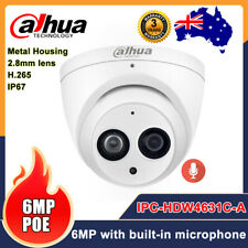 Dahua 6MP IPC-HDW4631C-A Built-in Mic PoE Dome IP Camera IR Network Security AU