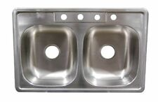 """Mobile Home/RV 33"""" x 19"""" x 8"""" Deep Stainless Steel Sink"""