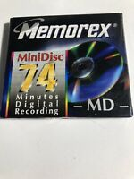 New Memorex MiniDisc  74 Minute Minidisc